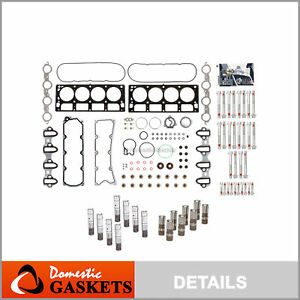 Head Gasket Set Head Bolts Lifters Fit 04 07 Cadillac Hummer Gmc Chevrolet 6 0
