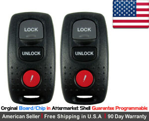 2x Replacement Keyless Entry Remote Key Fob Case For Mazda 3 6 Protege Kpu41704
