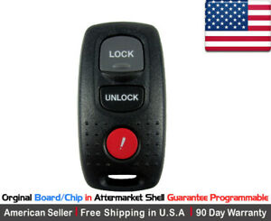 1x Replacement Keyless Entry Remote Key Fob Case For Mazda 3 6 Protege Kpu41704