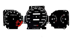 Gauge Faces Type R Style For Honda Civic Ek Vti Si Instrument Cluster Dashboard