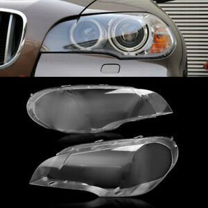 For 2008 2013 Bmw X5 E70 330i Pair Right Left Headlight Clear Lens Cover Us