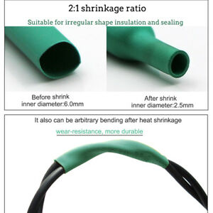 Us 328pcs Cable Heat Shrink Tubing Sleeve Wire Wrap Tube 2 1 Assortment Kit Set