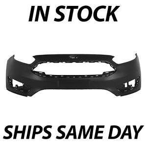 New Primered Front Bumper Cover Fascia For 2015 2016 2017 2018 Ford Focus