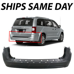 New Primered Rear Bumper Cover Replacement For 2011 2016 Chrysler Town Country