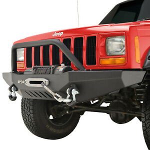 Front Bumper With Winch Plate Fit 84 01 Jeep Cherokee Xj
