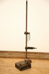Vintage Machinist Surface Gauge Inspection Base Stand Scribe Antique Tool Holder