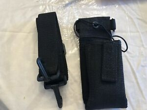 Nylon Fire Ems Police Radio Holster With Strap