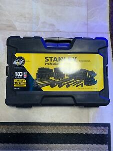 Stanley 183 Piece Black Chrome Finish Socket Set New