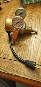 Airco Brass Heated Gas Regulator Made In Usa extra Cord free Shipping Returns