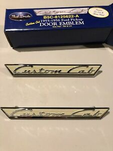 1955 1956 Ford Pickup Door Emblems Custom Cab