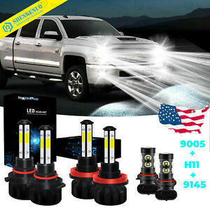 For Ford F 150 2015 2019 Led Front Headlight Hi lo Beam fog Light Bulbs Combo 6k