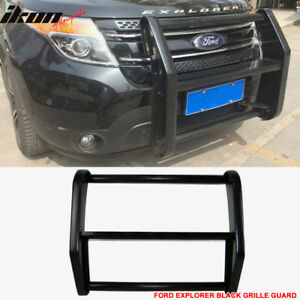 Fits 11 15 Explorer Police Interceptor Unpainted Front Push Bar Bumper Grille