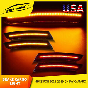 For 2016 2017 2018 Chevy Camaro Led Side Markers Lights Front Rear Lamp