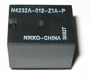 Nikko 12v 20 Amp Spdt Relay Compact Pc Mount 12 V Relay No Nc 5 Pin