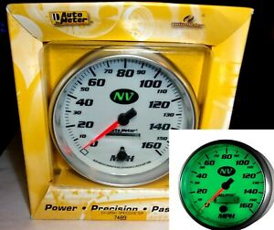 Autometer 7489 5 Programmable Speedometer Gauge Nv Series 0 160mph