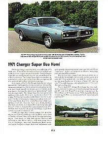 1971 Dodge Charger Super Bee 426 Hemi Article Must See