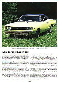 1968 Dodge Super Bee Article Must See