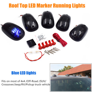 5pcs Cab Marker Lights Led Cab Roof Top Running Lights Fit For Suv Rv Pickup 4x4