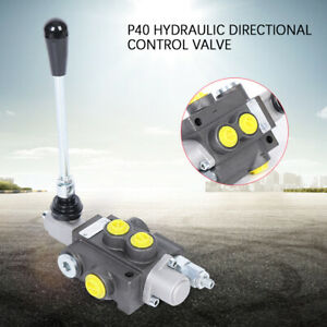 Spool P40 Hydraulic Directional Control Valve 13gpm 60l min 3600psi Adjustable