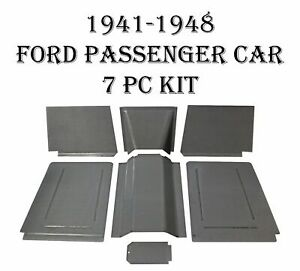 1941 1942 1946 1948 Ford Mercury Floor Pans Toe Boards Trans Covers 7pc Kit