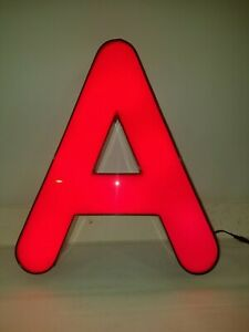 Letter A Retro Marquee Channel Letters A Retro Sign Red Led Lights