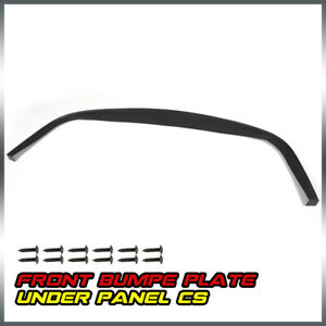 For Universal Cs Style Front Bumper Lip Splitter Chin Spoiler Under Panel