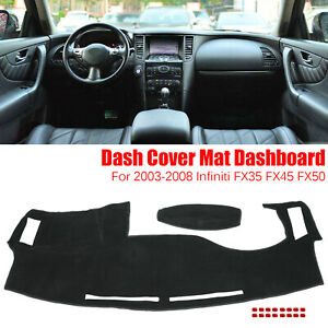Dash Cover Dashmat Dashboard Mat Pad Anti Sun For 03 08 Infiniti Fx35 Fx45 Fx50