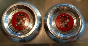 Two 1953 1955 Cadillac Kelsey Hayes Sabre Or Wire Wheel Hubcaps Oem Rare
