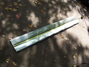 1957 Cadillac Convertible Coupe Stainless Rocker Moldings Trim Pair