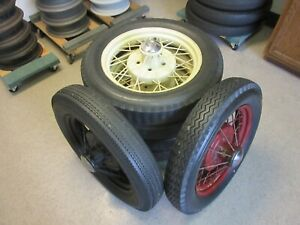 Model A Ford Wire Wheels Set Six 1930 1931 19 Tires 5 On 5 1 2 Bolt Circle