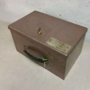 Antique Jayem Sales Corp Fire Retardant Security Chest Lock Box Safe With Keys