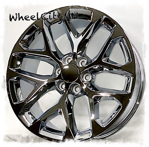 20 Inch Chrome Chevy Gmc Denali Cadillac Snowflake Oe Replica Wheels 6x5 5 28