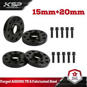 4x For Audi Volkswagen Staggered 15 Mm 20 Mm Wheel Spacers 5x100 5x112 57 1 Mm