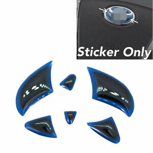 Gloss Gel Coat Vinyl Steering Wheel Emblem Filler Insert Sticker Blue For Toyota