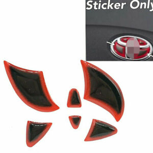 Gloss Gel Vinyl Steering Wheel Emblem Filler Insert Sticker Red For Toyota Bt