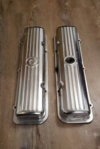 Oldsmobile 394 V8 Engine Chrome Valve Covers Oem Gm Starfire