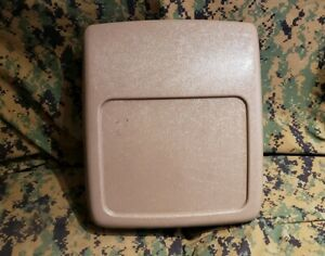 1992 1996 Ford F150 F250 F350 Bronco Center Console Cover Lid Mocha Oem Xlt