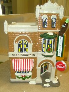 Dept 56  COCA COLA CORNER DRUGSTORE  - Snow Village  #54844  (120)