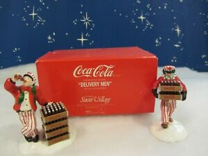 Dept 56 COCA COLA DELIVERY MEN - Snow Village -  2 piece set  #54801  (r120)