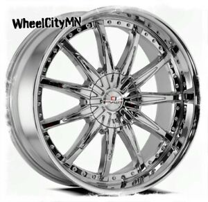20 Inch Chrome Cavallo Clv35 Wheels Fits Ford Edge Flex Mustang 5x108 5x4 5 35