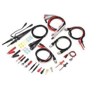 Electrical Multimeter Oscilloscope Test Lead Cable Kit Alligator Clips Probe
