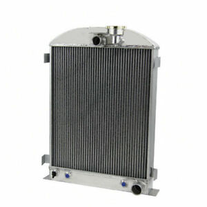 4 Row Aluminium Radiator For 1928 1939 Ford Model Grille Shells Chevy Engines Cl