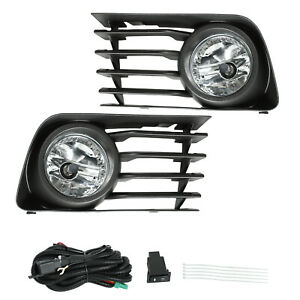 Front Bumper Fog Lights Driving Lamps W Switch Wiring For 2004 2009 Toyota Prius