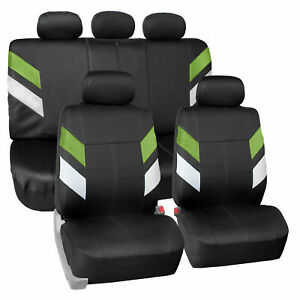 Seat Covers Neoprene Waterproof For Auto Car Suv Van Full Set Green
