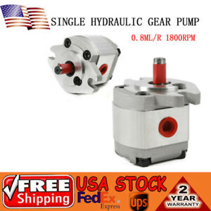Single Hydraulic Gear Pump 8ml r 1000 4300rpm 21mpa Sae Flange Mounting Flat Key