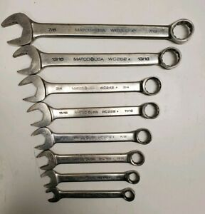 Matco Tools Combo Sae Wrenches Set Of 8 7 16 7 8