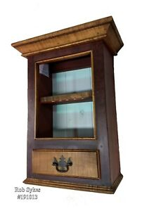 Tiger Maple Trimmed Spice Medicine Cabinet By Rob Sykes Furniture