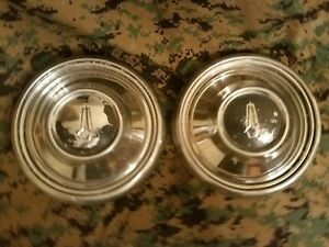 1968 68 Plymouth Dog Dish Hubcaps Barracuda Valiant Belvedere Gtx Road Runner