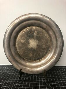 Vintage Silverplate Charger Plate Made In Canada