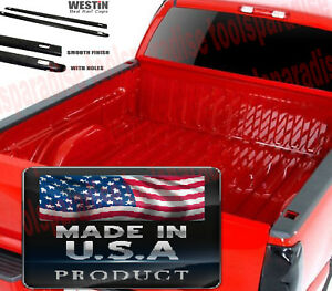 Side Top Cover 2007 2013 Chevrolet Silverado 1500 Holes Bed Rail Caps Trim